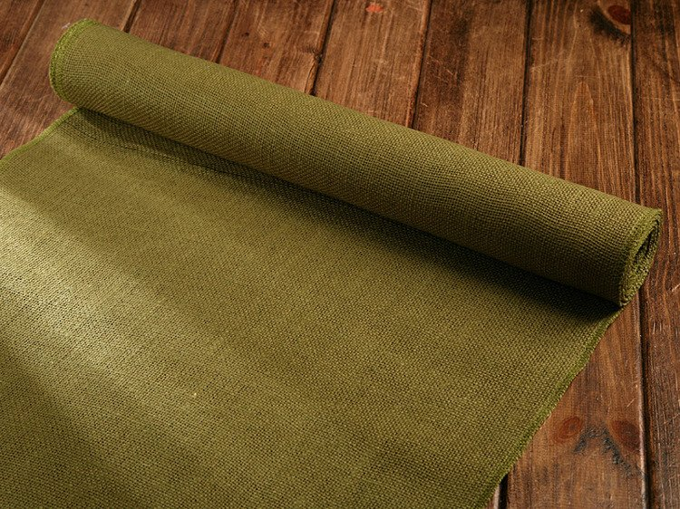 Jute fabric braid 50cm x 3 yd green