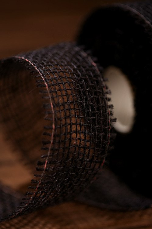 Jute ribbon 5 cm / 5 m black