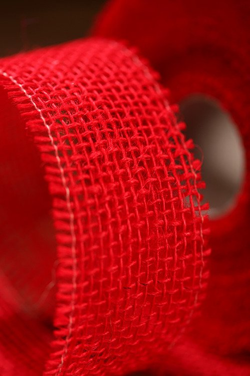 Jute ribbon 5 cm / 5 m red