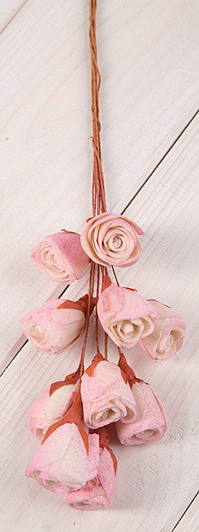 Lily midi flowers on wire 30pcs/pkg Light Pink