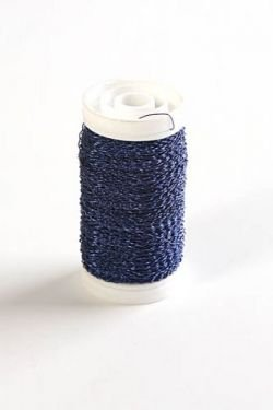 Metallic Bullion Wire Reels 75 grams - navy blue