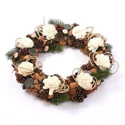 Natural wreath with sola flowers ca. 35-40cm