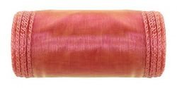 Organza, trimmed, width 12 cm, length 9 m (red opal)