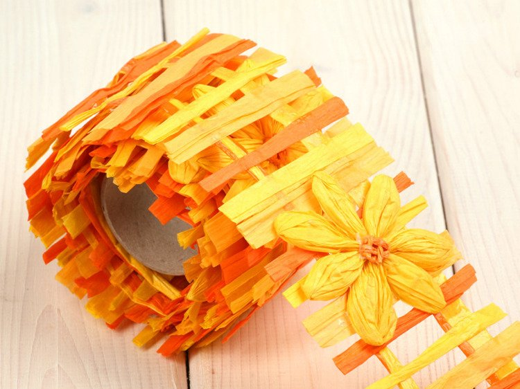 Paper garland 150cm - orange