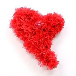 Plump heart red big 25/25 cm