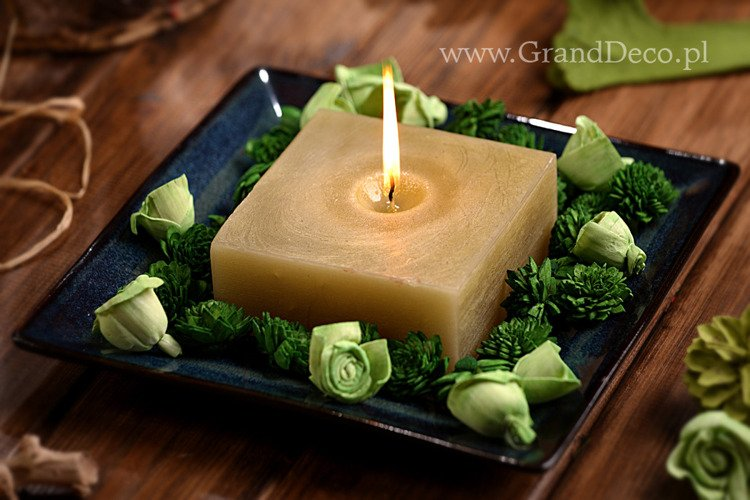 Potpourri Set with candle - green