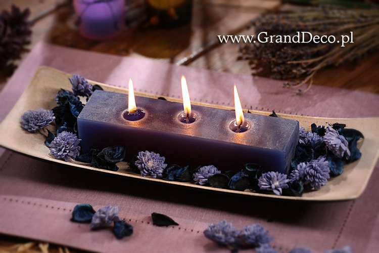 Potpourri set  with candle- vernal violet