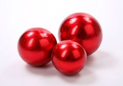 Red ceramic ball, 8cm