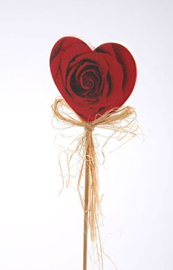 Rose Heart on stick 28cm