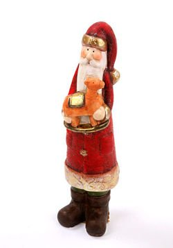 Santa Claus with camel 28 cm
