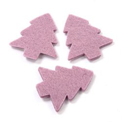Self-adhesive Christmas tree, purple, 5 cm, 12 pcs/pkg
