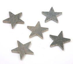 Self-adhesive wooden stars, violet, hollow, 4 cm - 24 pcs/pkg