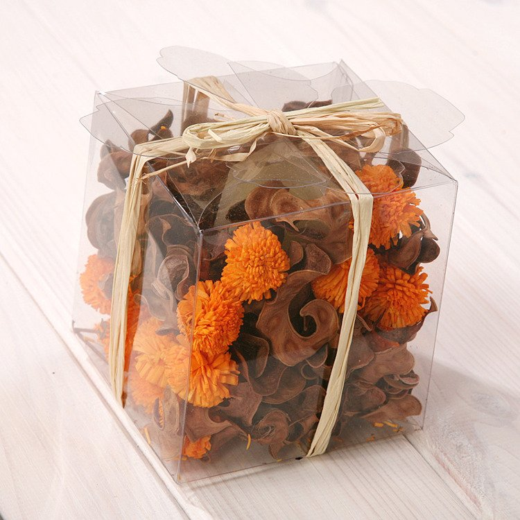 Set of potpourri in box - brown-orange