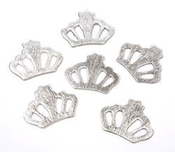 Silver crowns 4 cm 18 pcs /set