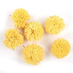 Star flowers, 3 cm, 24 pcs/pkg - yellow