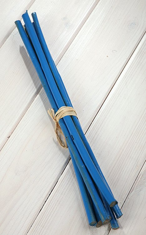 Sticks 35cm 6pcs/pkg in bunch, blue