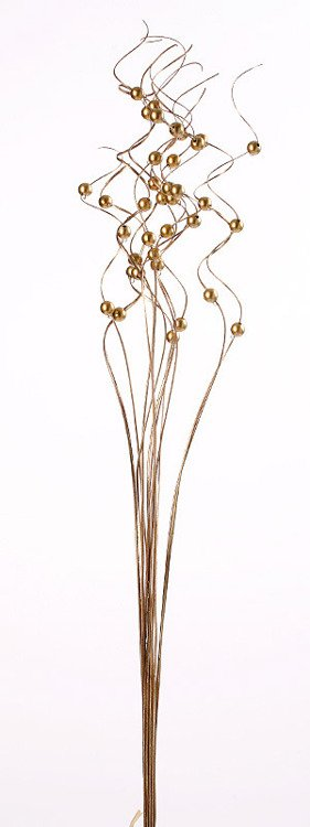 Ting ting, gold with pearls, bunch, height 40 cm.