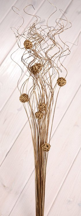 Ting ting with rattan balls ca.40-50cm gold