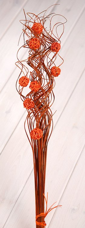 Ting ting with rattan balls ca.40-50cm orange
