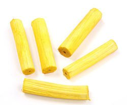 Wood, length 10-12 cm, 6 pcs/pkg, yellow