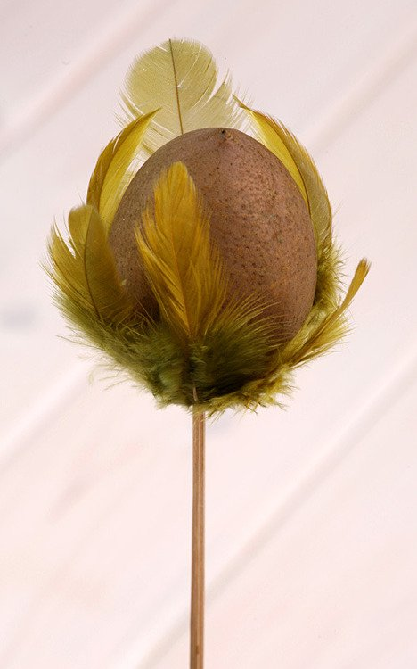 Wooden ball on stick 8/45cm, olive green
