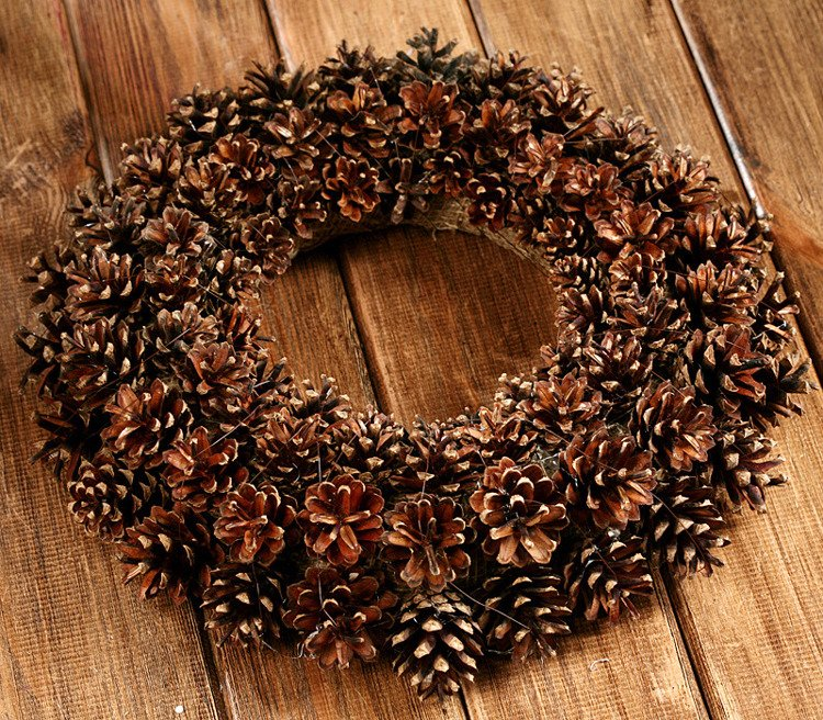 Wreath of naturalcones  ca.30cm