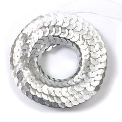 Wreath of sequins silver, 8 cm