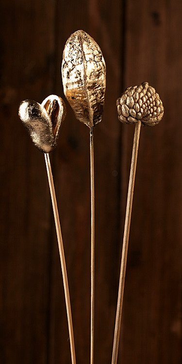 set of plants on stick- Gold