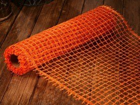 Jutenetz 50 cm x 5 m - orange