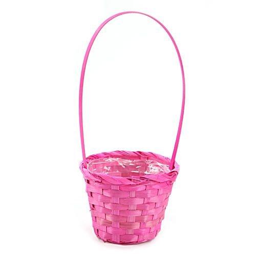 bambuskorb 12 cm rosa k rbe bambus fr hlings und. Black Bedroom Furniture Sets. Home Design Ideas