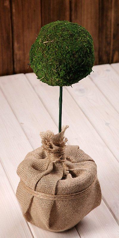 kugel aus moos im blumentopf 70 80 cm pick stecker weitere artikel moose flechten pilzen. Black Bedroom Furniture Sets. Home Design Ideas
