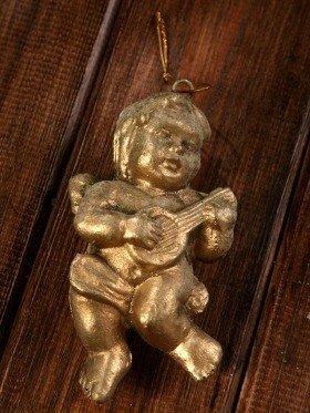Aniołek złoty 12 cm