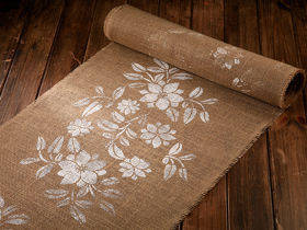 Tkanina jutowa  Jacob Collection gęsta (320 g/m2) 50cm x 3 yd – naturalna wz 2