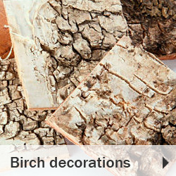 Birch decorations