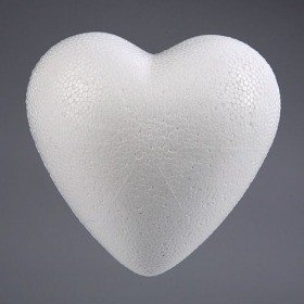 Styrofoam heart 4 cm Styrofoam heart 40 mm Price for 6 pieces