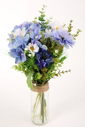 A bouquet of artificial flowers, a bouquet of wild flowers, a bouquet of grains 40 cm