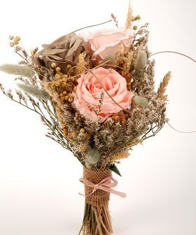 A bouquet of dried flowers, a bouquet of artificial flowers 45 cm