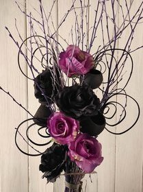 A bouquet of violets and blacks about 50 cm