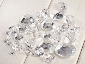 Acrylic diamonds with slot 24pcs/pkg