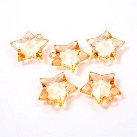 Acrylic stars hanger 3 cm orange 50 g ca. 16 pcs/set