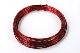Aluminium wire, roll, 100 g - red