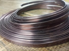 Aluminum Wire flat 100 grams - chocolate