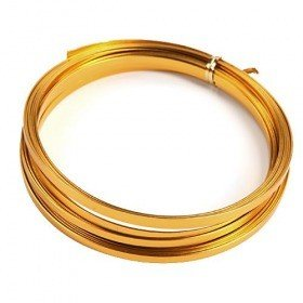 Aluminum Wire flat 100 grams - gold