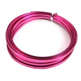 Aluminum Wire flat 100 grams - pink