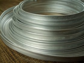 Aluminum Wire flat 100 grams - silver