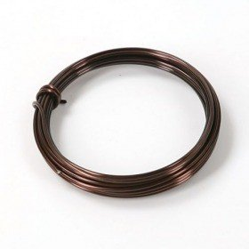 Aluminum wire floristic 5 m ring - brown