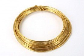 Aluminum wire floristic ring 5 m gold