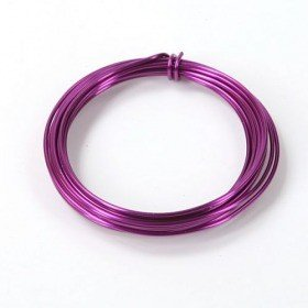 Aluminum wire floristic ring 5 m - purple