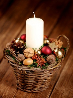 Arrangement 1007 winter decorative basket