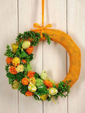 Arrangement- colorful wreath